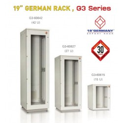 "19"" GERMAN RACK G3 Series G3-61127 Rack ขนาด 27U WxDxH 60x110x139 cm"