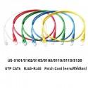 Link US-5101 สายแลน Patch Cord Cat6 เข้าหัวสำเร็จ ยาว 1เมตร รองรับความเร็ว Gigabit LAN Cable UTP/ STP/ FTP