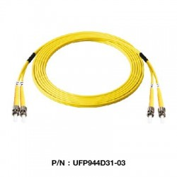 Link UFP944D31 Patch Cord Fiber Optic OS2 ST-ST Duplex Single-Mode UPC-UPC Patch Cord Fiber Optic Cable