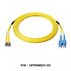 Link UFP946D31 Patch Cord Fiber Optic OS2 ST-SC Duplex Single-Mode UPC-UPC Patch Cord Fiber Optic Cable