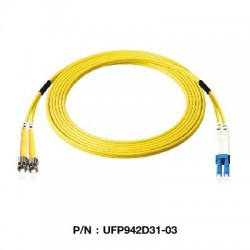 Link UFP942D31 Patch Cord Fiber Optic OS2 ST-LC Duplex Single-Mode UPC-UPC Patch Cord Fiber Optic Cable