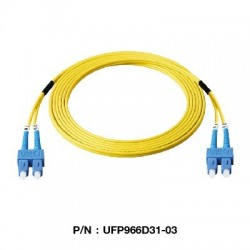Link UFP966D31 Patch Cord Fiber Optic OS2 SC-SC Duplex Single-Mode UPC-UPC Patch Cord Fiber Optic Cable