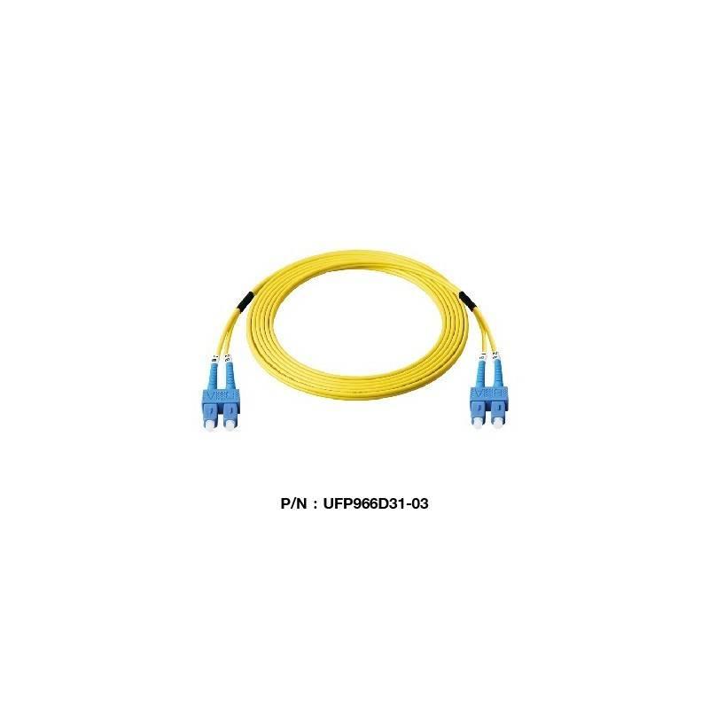 Link UFP966D32 Patch Cord Fiber Optic OS2 SC-SC Duplex Single-Mode APC-APC Patch Cord Fiber Optic Cable