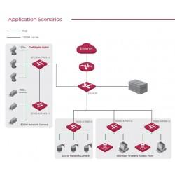 IP-COM S1105-4-PWR-H POE Switch 5 Port 100Mbps จ่ายไฟ POE 802.3af/at 4 Port 58W Switches เชื่อมเครือข่ายแบบสาย