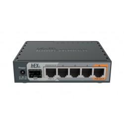 Mikrotik Router hEX S RB760iGS, ROS LV.4 CPU 880MHz Ram 256MB, 5 Port Gigabit 1 SFP, POE
