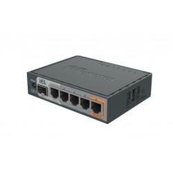 Mikrotik Router hEX S RB760iGS, ROS LV.4 CPU 880MHz Ram 256MB, 5 Port Gigabit 1 SFP, POE Mikrotik (ไมโครติก)