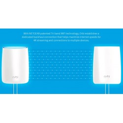 Netgear Orbi RBK50 Whole Home AC3000 Tri-band WiFi System Wireless AccessPoint (กระจายสัญญาณ WIFI)