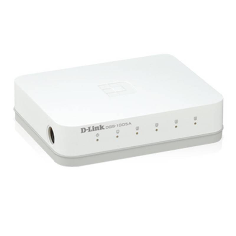 D-Link DGS-1005A 5-Port Gigabit Desktop Switch In Plastic Casing Switches เชื่อมเครือข่ายแบบสาย