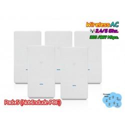 Ubiquiti UniFi AC Mesh Pro Pack5 UAP-AC-M-PRO-5 Outdoor AP Wireless AC Dual Band 1750Mbps Wireless AccessPoint (กระจายสัญญาณ ...