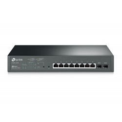 TP-LINK T1500G-10MPS JetStream 8-Port L2 Managed Gigabit POE Switch 2 SFP Slots, POE 116W Switches เชื่อมเครือข่ายแบบสาย