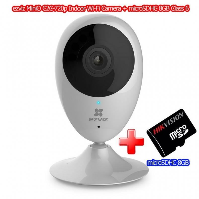 Ezviz ezviz MiniO C2C Indoor Wi-Fi Camera Night Vision, ดู Online ผ่าน Cloud พร้อม microSDHC 8GB