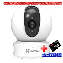 ezviz C6C Mini 360 Pan/Tilt Wi-Fi Camera Night Vision, ดู Online ผ่าน Cloud พร้อม microSDHC 8GB