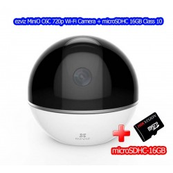 ezviz C6T Mini 360 Plus Wifi-IP Camera Pan/Tilt HD 1080P Two-Way Talk,eZ Cloud พร้อม microSD 16GB