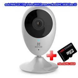 ezviz MiniO C2C Indoor Wi-Fi Camera Night Vision, ดู Online ผ่าน Cloud พร้อม microSDHC 16GB