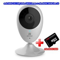 ezviz MiniO C2C Indoor Wi-Fi Camera Night Vision, ดู Online ผ่าน Cloud พร้อม microSDHC 16GB กล้อง IP Camera / เครื่องบันทึก NVR