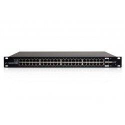 Ubiquiti Switches เชื่อมเครือข่ายแบบสาย Ubiquiti EdgeSwitch ES-48-500W L2/L3 Managed Gigabit POE Switch 48 Port, 2 Port SFP+,...