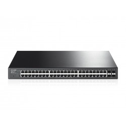 TP-LINK T1600G-52PS (TL-SG2452P) L2-Managed Gigabit POE Switch 48 Port, 4 SFP, 384W