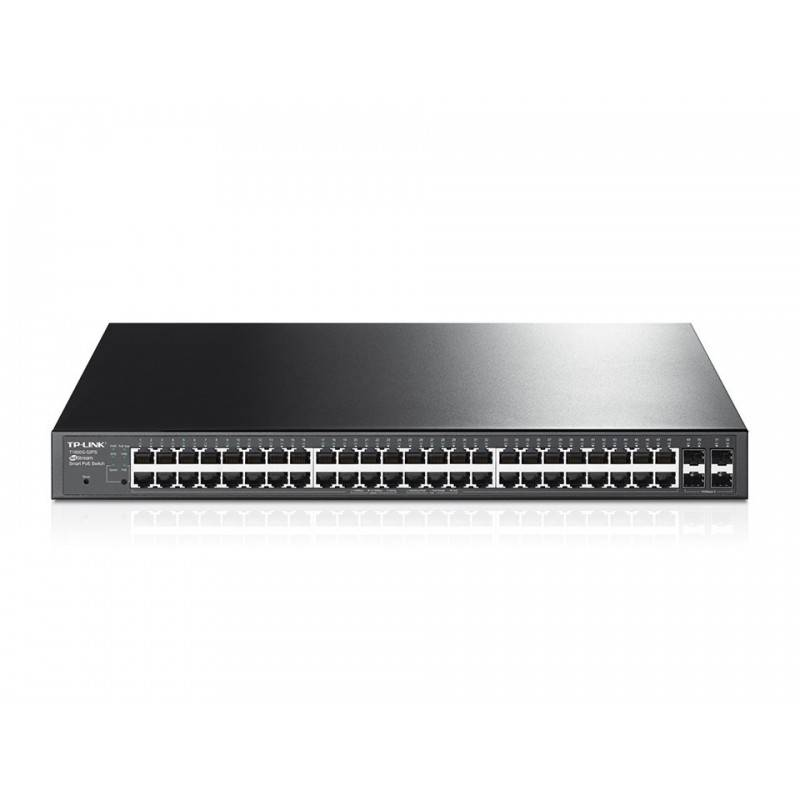 TP-LINK T1600G-52PS (TL-SG2452P) L2-Managed Gigabit POE Switch 48 Port, 4 SFP, 384W Switches เชื่อมเครือข่ายแบบสาย