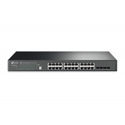 TP-LINK T1700G-28TQ JetStream 24-Port Gigabit Stackable Smart Switch, 4 Port SFP+ 10GE Switches เชื่อมเครือข่ายแบบสาย