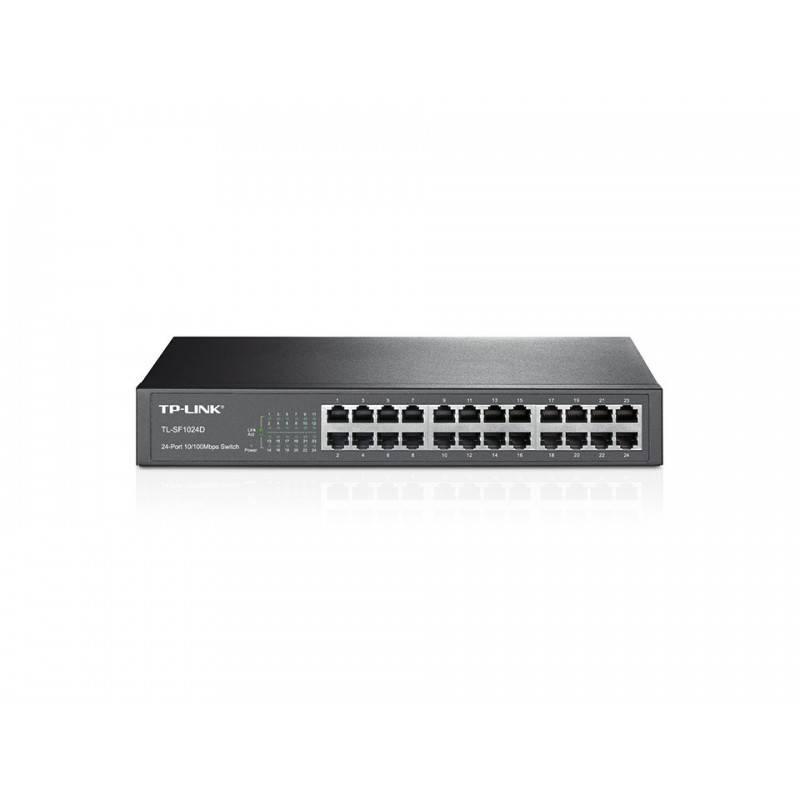 TP-Link TL-SF1024D Desktop/Rackmount Switch 24-Port ความเร็ว 10/100Mbps Switches เชื่อมเครือข่ายแบบสาย