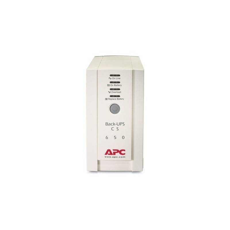 APC BK650AS เครื่องสำรองไฟ APC BACK-UPS CS 650VA/400W 230V UPS เครื่องสำรองไฟ