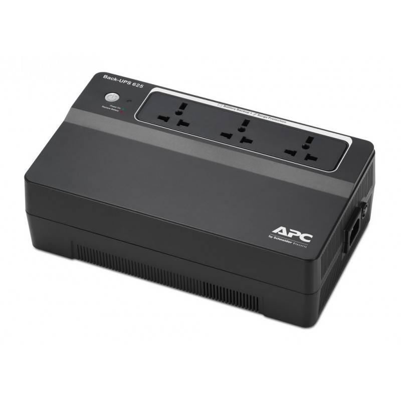 APC BX625CI-MS เครื่องสำรองไฟ UPS AAPC Back-UPS 625VA/325W, 230V, AVR UPS เครื่องสำรองไฟ