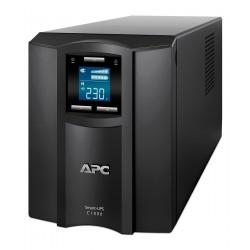 APC SMC1000I เครื่องสำรองไฟ UPS APC Smart-UPS C 1000VA/600W LCD 230V UPS เครื่องสำรองไฟ