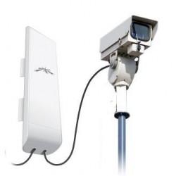 Ubiquiti Ubiquiti NanoStation M5 (NSM5) Access Point ภายนอกอาคาร ความถี่ 5GHz ความเร็ว 150Mbps พร้อม POE ในชุด