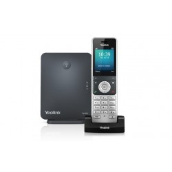 "Yealink W60P Dect IP Phone พร้อม IP Base W60B หน้าจอสี 2.4"" HD Voice รองรับ POE"