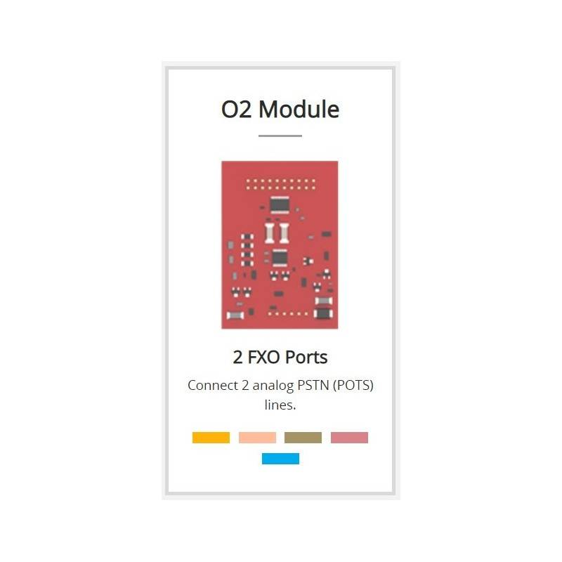 Yeastar O2 Module (2 FXO Port) สำหรับเชื่อมต่อกับเครือข่ายโทรศัพท์ PSTN ได้ 2 คู่สาย VOIP / IP-PBX ระบบโทรศัพท์แบบ IP