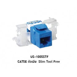 LINK US-1005STF CAT 5E RJ45, BLUE JACK, SLIM TOOL FREE Connector หัวต่อ LAN