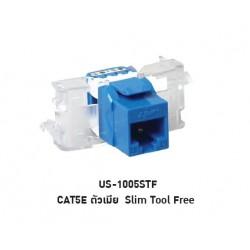 LINK US-1005STF CAT 5E RJ45, BLUE JACK, SLIM TOOL FREE Connector หัวต่อ LAN