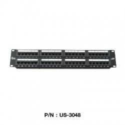 Link US-3048 Patch Panel 48 Port มาตรฐาน CAT 5E ขนาด 2U Rack Mount Support Connector หัวต่อ LAN