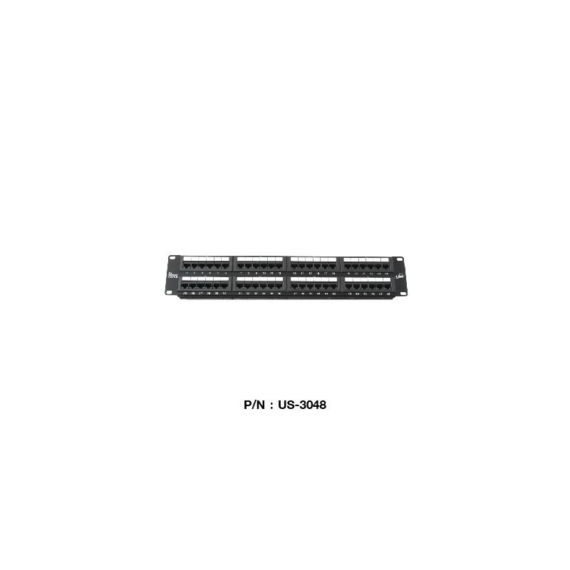 Link Link US-3048 Patch Panel 48 Port มาตรฐาน CAT 5E ขนาด 2U Rack Mount Support