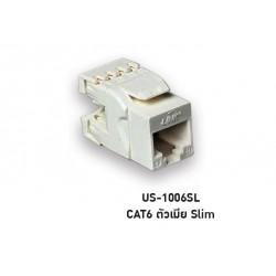 LINK US-1006SL เต้ารับสายแลน CAT6 Unshield RJ45 Modular JACK Slim Connector หัวต่อ LAN