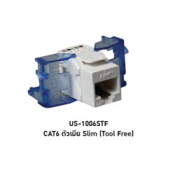 LINK US-1006STF CAT 6 RJ45, BLUE JACK, SLIM TOOL FREE Connector หัวต่อ LAN