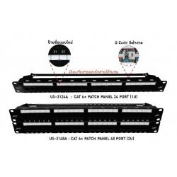 Link US-3124A Patch Panel 24 Port มาตรฐาน CAT 6 ขนาด 1U Rack Mount Support ตู้ Rack และ อุปกรณ์เสริม