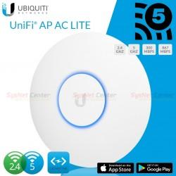 Ubiquiti UniFi UAP-AC-LITE Wireless Access Point AC Dual-Band 1167Mbps POE Wireless AccessPoint (กระจายสัญญาณ WIFI)