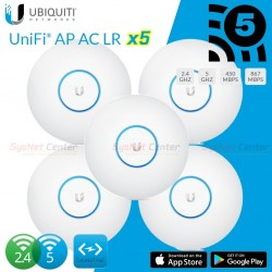 Ubiquiti UniFi UAP-AC-LR-5 Pack 5 ชุด Dual Band มาตรฐาน AC 1317Mbps Wireless AccessPoint (กระจายสัญญาณ WIFI)