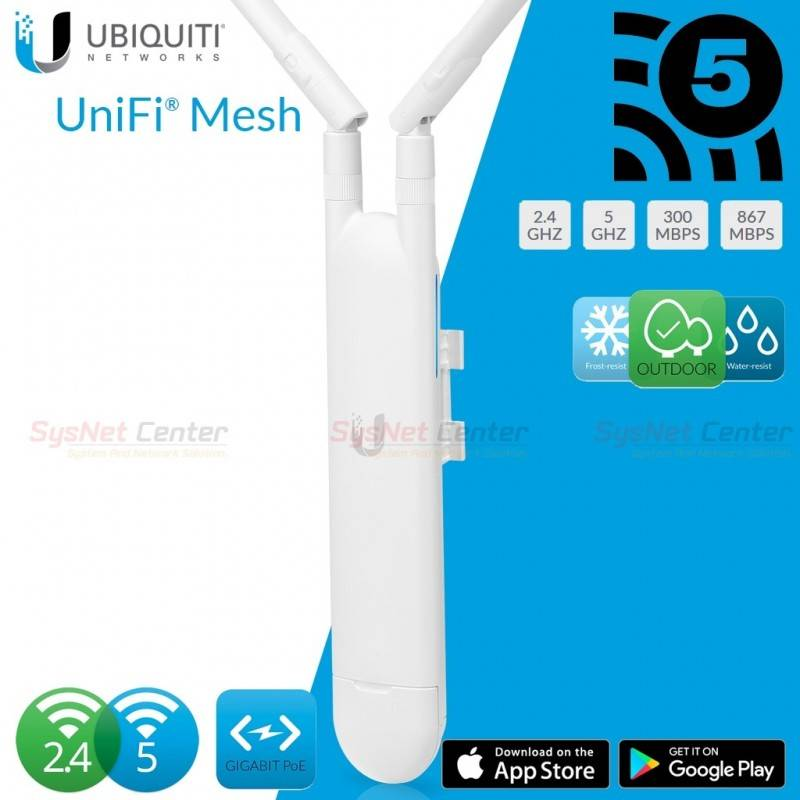 Ubiquiti UniFi AC Mesh UAP-AC-M Indoor/Outdoor AP Wireless AC-Dual Band Dual-omni antennas, 1167Mbps Wireless AccessPoint (กร...