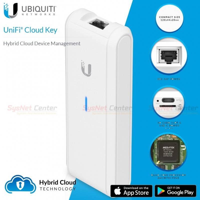 Ubiquiti UniFi Cloud Key UC-CK ชุด Hybrid Cloud Device Management พร้อม Software UniFi Controller Ubiquiti (ยูบิคิวตี้)