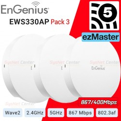 EnGenius EWS330AP Pack-3 Dual Band AC1300 Managed Indoor Wireless Access Point MU-MIMO Wave2 Wireless AccessPoint (กระจายสัญญ...