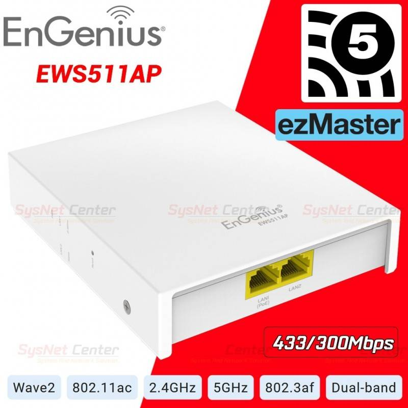 EnGenius EWS511AP Wall Plate Access Point AC750 Dual-Band POE Support Wireless AccessPoint (กระจายสัญญาณ WIFI)