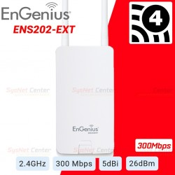 Engenius ENS202EXT Wireless Accees Point Outdoor 2.4GHz 300Mbps รองรับ User ได้มาก พร้อม POE Wireless AccessPoint (กระจายสัญญ...