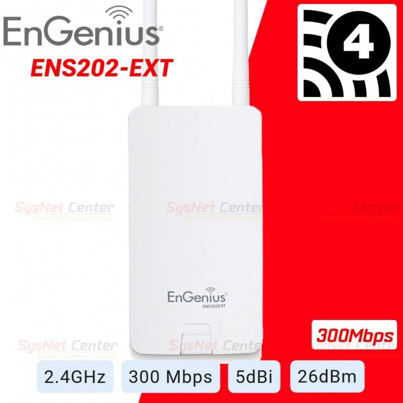 EnGenius Engenius ENS202EXT Wireless Accees Point Outdoor 2.4GHz 300Mbps รองรับ User ได้มาก พร้อม POE