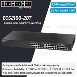 Edgecore ECS2100-28T L2-Managed Gigabit Web-Smart Pro Switches 24 Port, 4 Port SFP