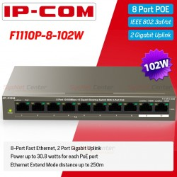 IP-COM IP-COM F1110P-8-102W POE Switch 8 Port 100Mbps, 2 Port Gigabit จ่ายไฟ POE 802.3at 8 Port 120W