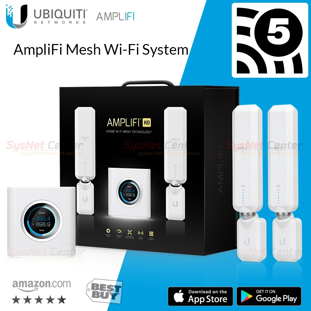 Ubiquiti AmpliFi Mesh Wi-Fi System Mesh Router Mesh Point HD 1750Mbps