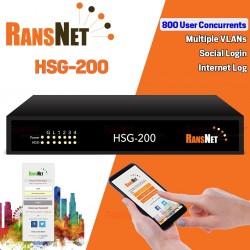RANSNET HSG-200 HotSpot Gateway Authentication 800 Concurrents, Social Login, VLAN ระบบ Hotspot จัดเก็บ Log