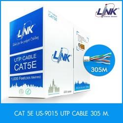 Link US-9015 สาย UTP CAT5E (350 MHz) สำหรับเดินภายในอาคาร , CMR สาย LAN แบบ Cat 5E